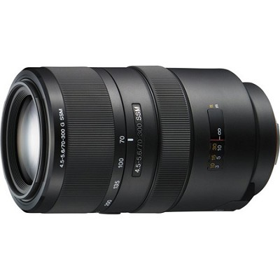 SAL70300G G Series 70-300mm f/4.5-5.6 Compact Super Telephoto Zoom A-Mount Lens