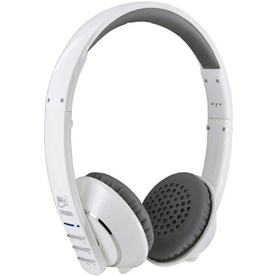 Air-Fi Runaway AF32 Stereo Bluetooth Wireless Headphones w/ Mic. (White/Grey)