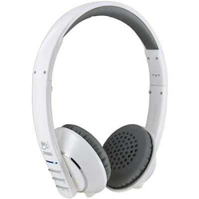 Air-Fi Runaway AF32 Stereo Bluetooth Wireless Headphones w/ Mic. (White/Grey)