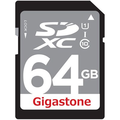 64GB Class 10 UHS-1 SDXC Memory Card Up to 45MB/s (GS-SDXCU164G-R)