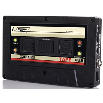 USB Mixtape Recorder with Retro Cassette Look, Black (TAPE)