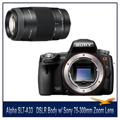 Alpha SLT-A33 14.2 MP DSLR Body Kit w/ 75-300mm f/4.5-5.6 Zoom Lens