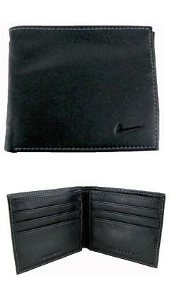 Genuine Leather Bifold Mens Wallet (Black Glazed Designed)