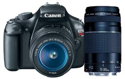 EOS Rebel T3 SLR Digital Camera w/ 18-55mm & 75-300mm Bundle Deal