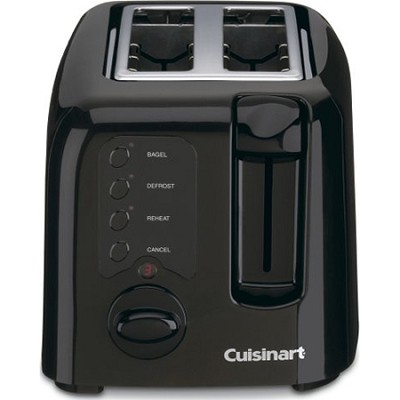 Compact 2-Slice Toaster - Black