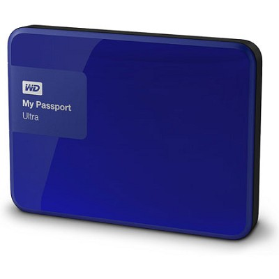 My Passport Ultra 3 TB Portable External Hard Drive, Blue