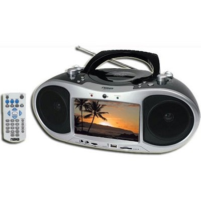 NDL-252 Portable DVD Boom Box With a built-in 7` LCD screen