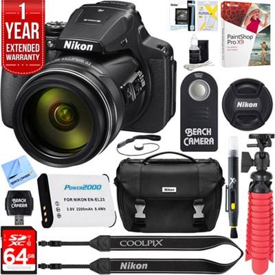COOLPIX P900 16MP 83x Super Zoom Digital Camera + 64GB Memory & Accessory Kit