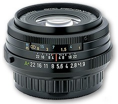 smc P-FA 43mm f1.9 Limited Edition Black Finish Lens