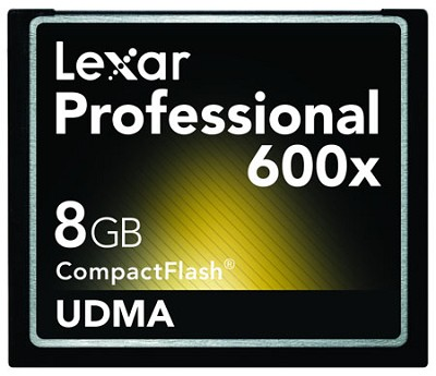 8 GB Professional UDMA 600X CompactFlash Card