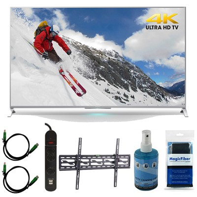 XBR-65X800B 65-inch 4K Ultra HD Smart LED TV Motionflow XR 240 Tilt Mount Bundle