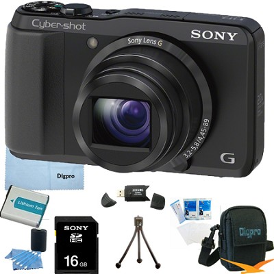 Cyber-shot DSC-HX20V 18.2 MP 20x Optical Zoom Ultrazoom Camera 16GB Bundle
