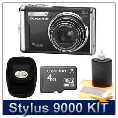 Stylus 9000 12MP 2.7` LCD Digital Camera (Black) Super Savings Kit