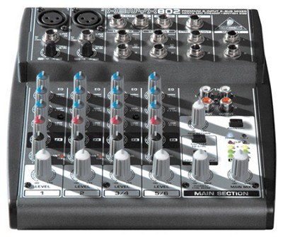 Xenyx 802 Premium 8-Input 2-Bus Mixer with Xenyx Mic Preamps and British EQs