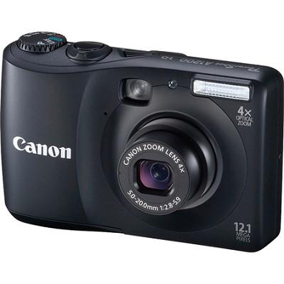 PowerShot A1200 12MP Black Digital Camera w/ 4x Zoom & 720p HD Video