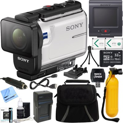 HDR-AS300R Action Cam + Live View Remote & 32GB Accessory Bundle