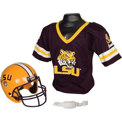 Youth NCAA LSU Tigers Helmet and Jersey Set