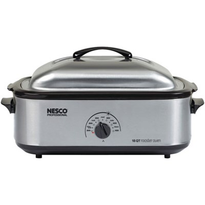 18 Qt Roaster Stainless Porcelain Cookwell - OPEN BOX