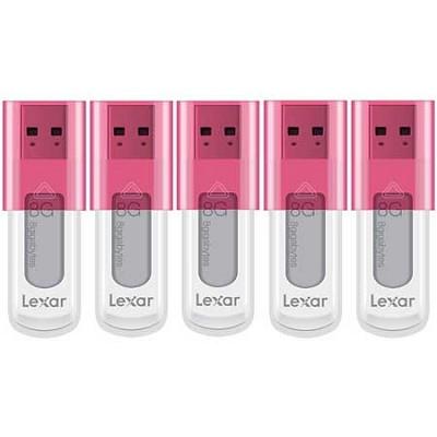 8 GB JumpDrive High Speed USB Flash Drive (Pink) 5-Pack (40 GB Total)