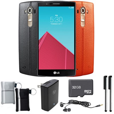 G4 Smartphone 32GB w/ Genuine Leather Back Cover Bundle - Unlocked GSM (US991)