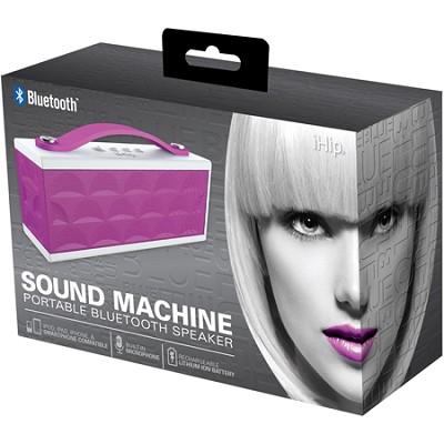 Sound Machine Portable Bluetooth Speaker with Built-in Mic (Purple/White)