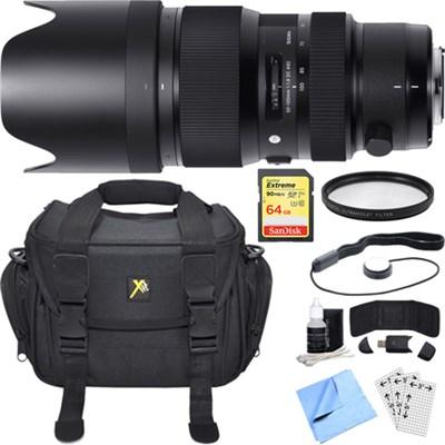 50-100mm F1.8 DC HSM Lens for Sigma SA Mount Essential Accessory Bundle