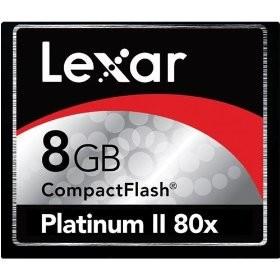 8 GB Platinum II CF Memory Card 80X  LCF8GBBSBNA080