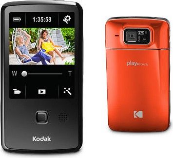 Playtouch Orange 1080p HD Video Camera Camcorder w/ 3.0` Touchscreen OPEN BOX