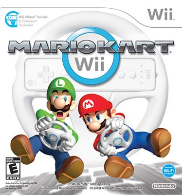 Mario Kart Wii with Wii Wheel by Nintendo (Nintendo Wii)