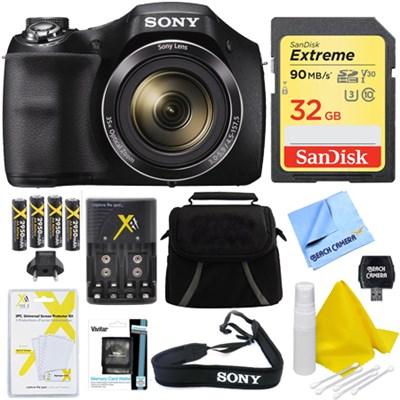 Cyber-shot DSC-H300 Digital Camera Black 32GB Kit