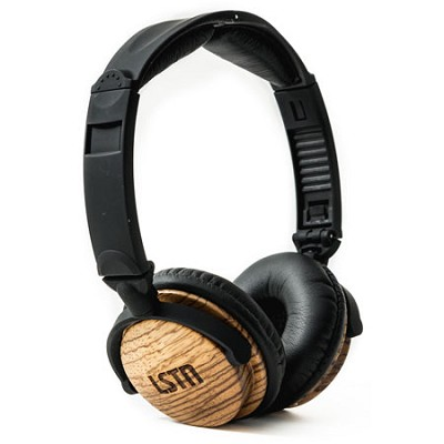 On-Ear Headphones LSTN23 Fillmores with Mic, Zebra Wood