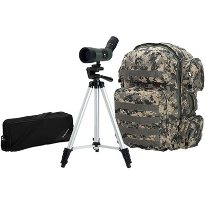 LandScout 10-30x50 Backpack/Tripod Kit, Olive Green
