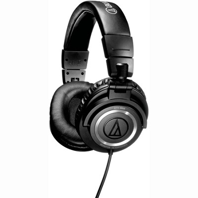 ATH-M50 Professional Closed-Back Studio Headphones with Straight Cable