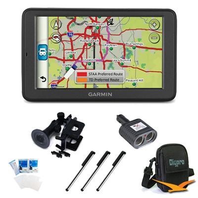 dezl 560LMT trucking GPS w/ Free Lifetime Maps and Traffic Essentials Bundle