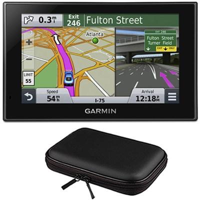 nuvi 2639LMT Advanced Series 6` GPS Navigation System, Lifetime Maps Case Bundle