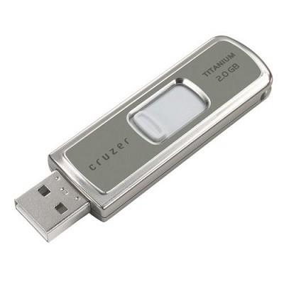 Cruzer Titanium 2GB U3 USB Flash Drive {Titanium }