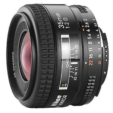 35mm F/2D AF DX Nikkor Lens with Auto Focus - REFURBISHED