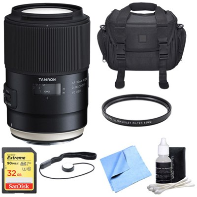 SP 90mm f/2.8 Di VC USD 1:1 Macro Lens for Canon Super Performance Lens Bundle