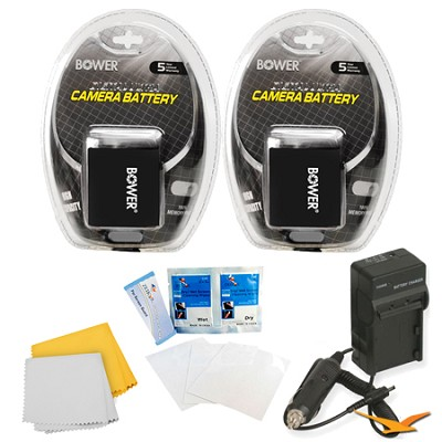 2 Pack Battery Kit For The Canon Powershot SX50,G16,G1X,SX40