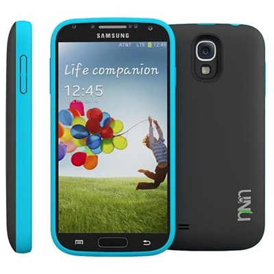 Unity Ultra-Slim 2600mAh Battery Case for Samsung Galaxy S4 - Black/Blue