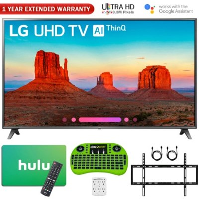 86 Class 4K HDR Smart LED AI UHD TV w/ThinQ w/ Hulu Card + Warranty Bundle