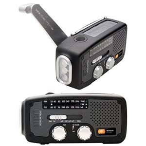 FR160B Microlink Self-Powered AM/FM/NOAA Weather Radio with LED Flashlight