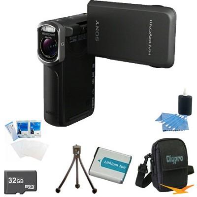 HDR-GW77V/B HD 20.4 MP Waterproof, Shockproof, Dustproof Camcorder (Black)Bundle