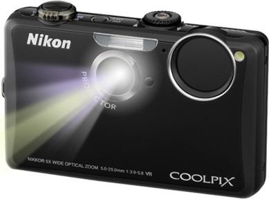 COOLPIX S1100pj Black 14MP Digital Camera w/ Projector
