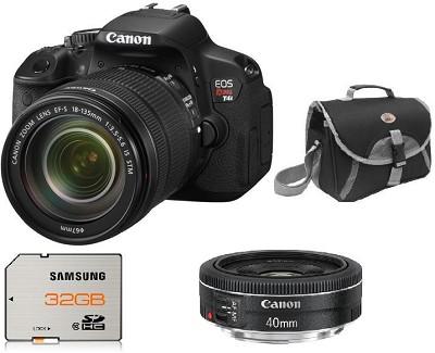 EOS Rebel T4i 18MP SLR Camera w/ 18-135mm STM Lens + EF40mm f/2.8 STM - Kit