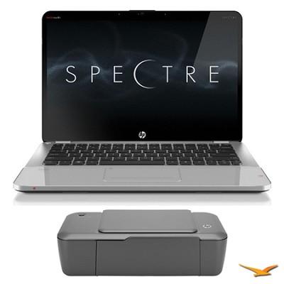 14.0` 14-3210nr Spectre Ultrabook PC and HP 1000 Printer Bundle