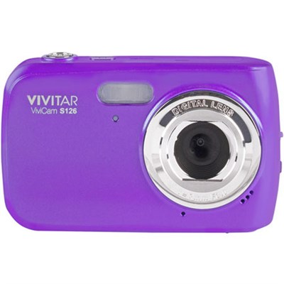 16 MP Digital Camera-Purple VS126-PUR