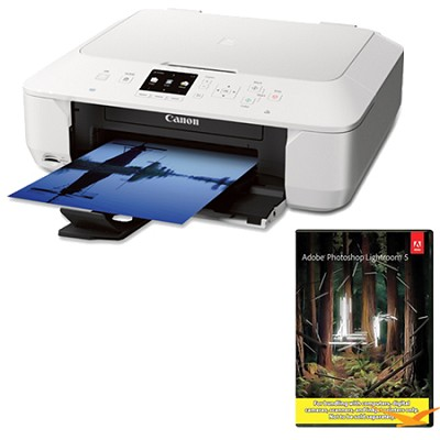 PIXMA MG6420 Wireless Color Photo Printer/Scanner/Copier - White w/ Photoshop
