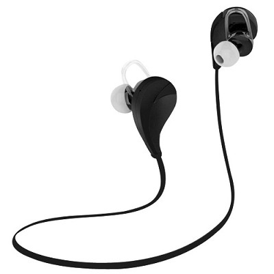 Noise Reduction Wireless Bluetooth Lightweight Sport Headphones w/ Mic - Black