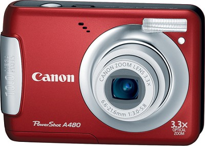 PowerShot A480 10MP Digital Camera (Red)